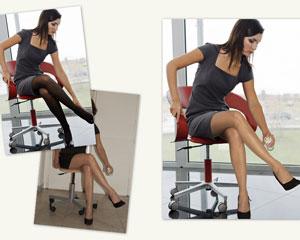 Photo-montage pour des jambes légères