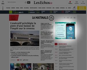 Campagne HTML5 pour Les Echosmédias