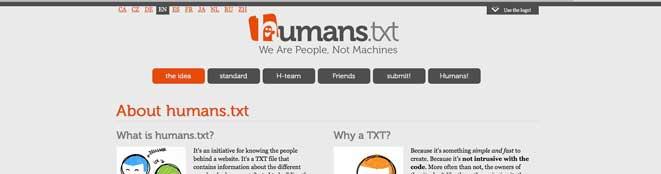 Je ne suis pas une machine ! Ou l'on parle de humans.txt