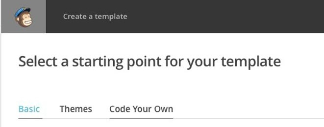 """Comment utiliser un template """"custom"""" dans Mail Chimp ?"""
