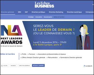 Campagne print et digitale pour Les Echos business